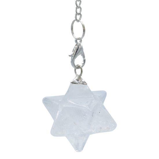 Bergkristal Merkaba chakra pendel achtpuntig (3 cm)