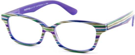 Readloop Cauris 2604-04 groen/paars/blauw/wit +2.00
