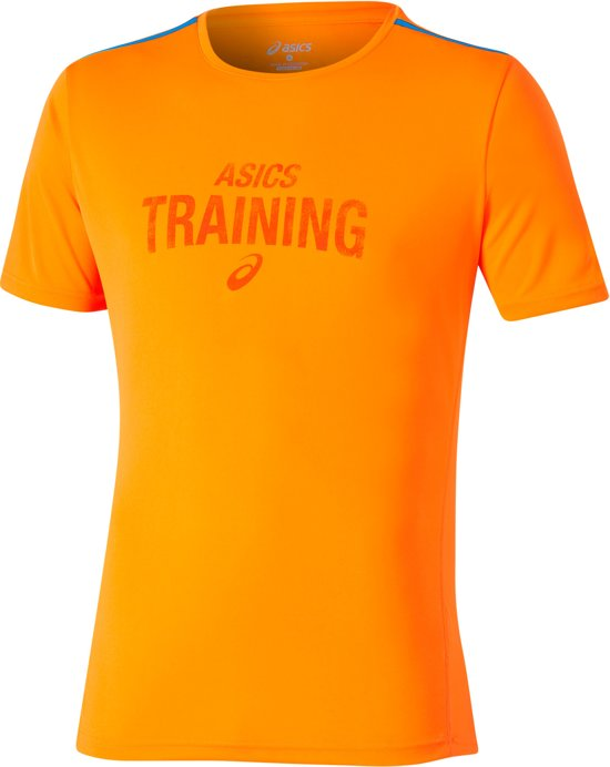 asics Graphic hardloopshirt Heren oranje