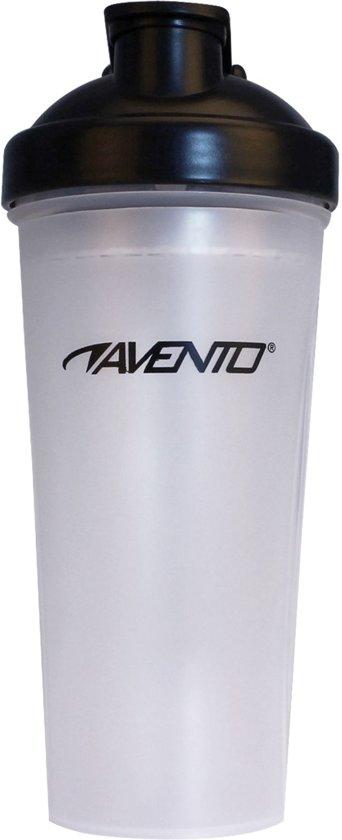 Avento - Shakebeker - 0.6 Liter - Transparant/Zwart - 0,60 L