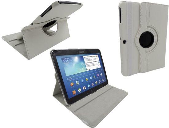 iParts4u Samsung Galaxy Tab 3 Leder Hoes Draaibaar 360 Graden Wit in Heure (Nam.)