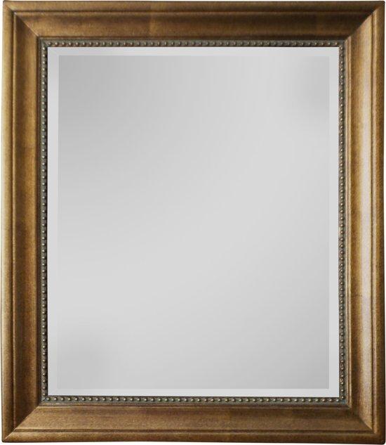 Qweens - Spiegel - Lotte- antiek goud - buitenmaten breed 75 cm x hoog 105 cm.
