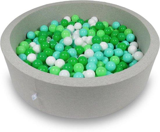 Ballenbak - 400 ballen - 115 x 30 cm - ballenbad - rond grijs