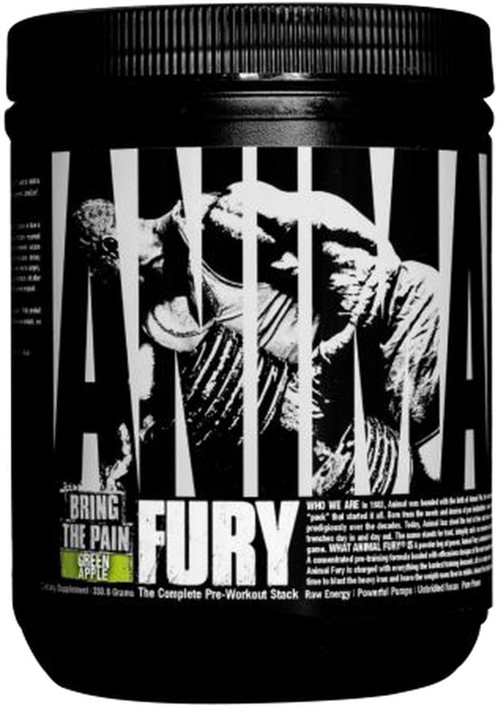 Animal Fury Pre-Workout - Green Apple