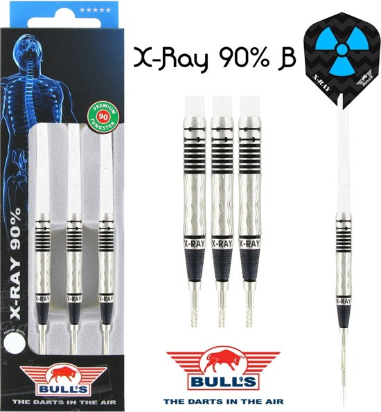 Bull's X-RAY B 90% Tungsten 25 gram Steeltip Dartpijlen