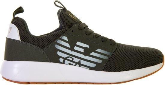 Maat Groen 3 Mannen Fusion 42 Ea7 wit Racer 2 Sneakers Btg8nTSq