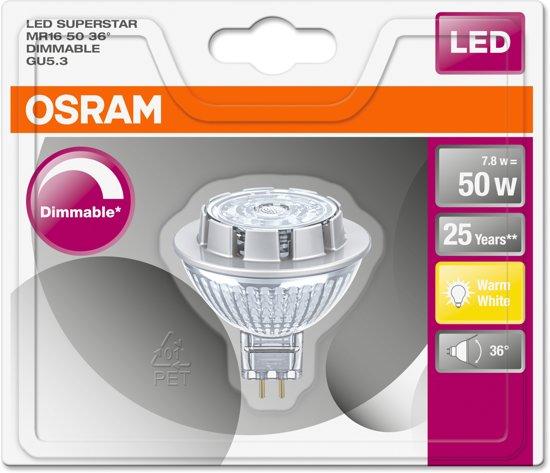 ledlamp GU5,3 7,8W 12V MR16 dimbaar