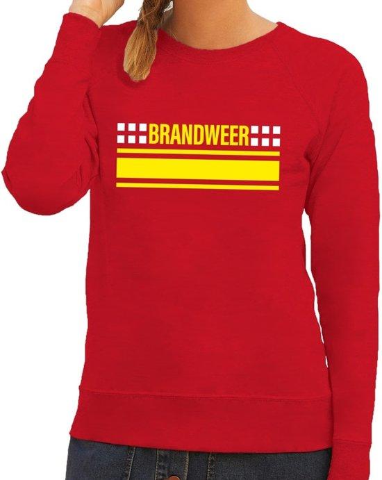 Brandweer logo sweater rood voor dames XL