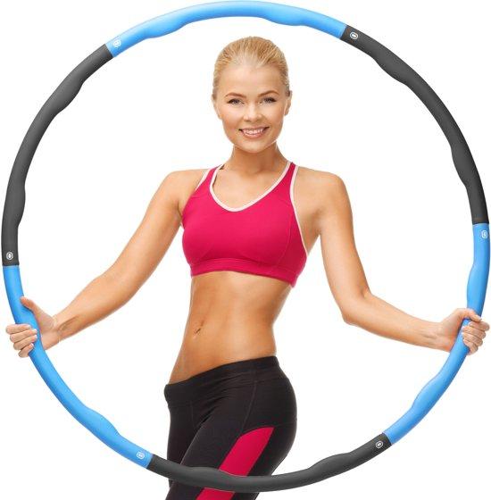 Weight Hoop Original - Fitness hoelahoep  - 1.8 kg - Ø 100 cm - Blauw/Zwart