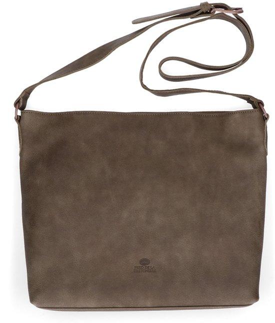 85b82f8ef81 Fred de la Bretoniere hand buffed leather crossbody - medium - Olive