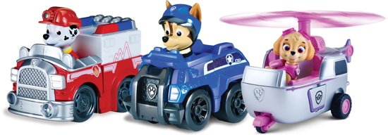 PAW Patrol Rescue Racers Marshall, Chase & Skye - Speelset