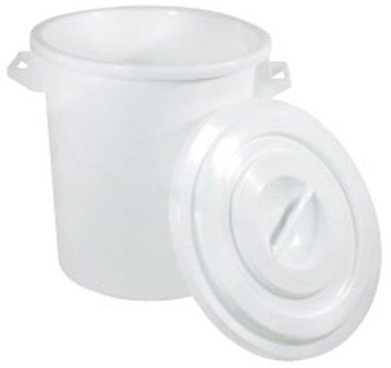 Vuilnisbak Wit Polypropyleen Stapelbaar - 100 Liter