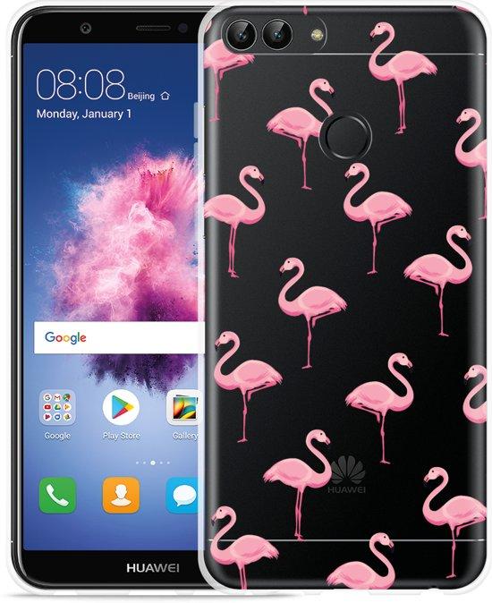 bdfdc139004 Huawei P Smart Hoesje Flamingo