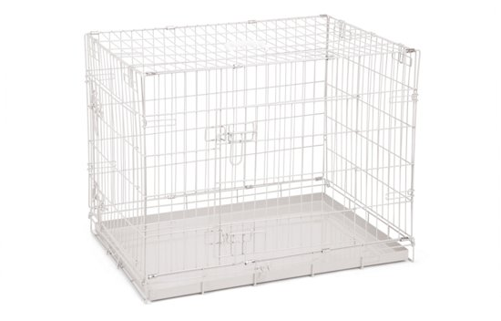 Beeztees 2 Deurs - Hondenbench - Grijs - 78x55x61 cm