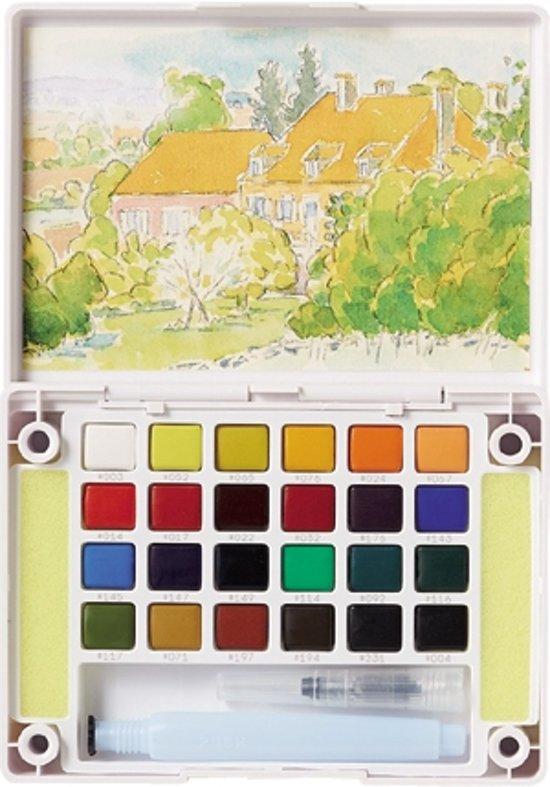 Sakura Koi aquarel pocketbox 24 napjes met brush pen