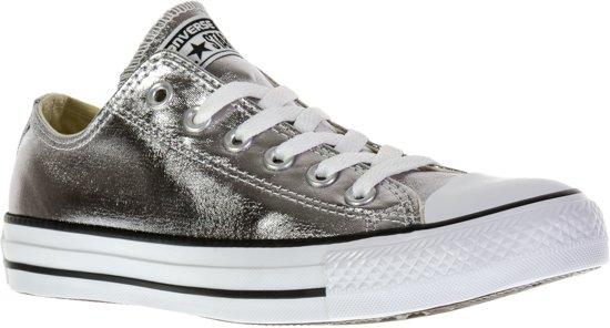 843a959391b Converse Chuck Taylor All Star Metallic Sportschoenen - Maat 40 - Unisex -  zilver/wit