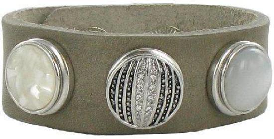 Quiges - Klaargemaakt Drukknoop Armband Set #204