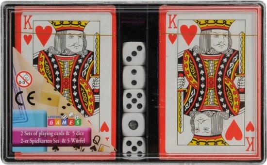 Afbeelding van het spel Speelkaarten met dobbelstenen set
