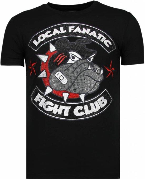 MatenM Local Club Zwart SpikeRhinestone Fight Fanatic shirt T sQrhCdt