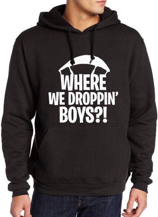 Hoodie sweater | where we droppin boys? | Maat Medium