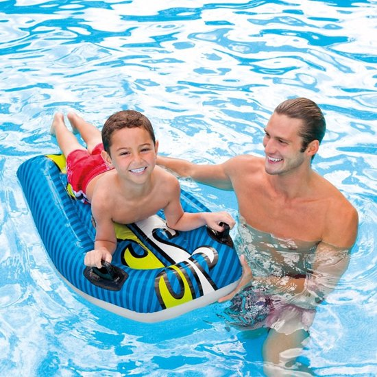Intex Zwemplank Joy rider 112 x 62 | Paars en Blauw assorti geleverd