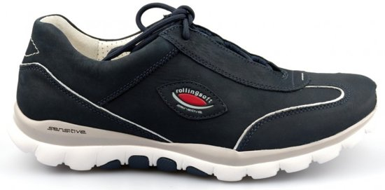 Gabor Rollingsoft Dames Lage sneakers Blauw Maat 43
