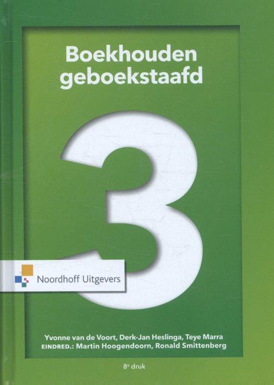 Boek cover Boekhouden geboekstaafd 3 van Henk Fuchs (Hardcover)