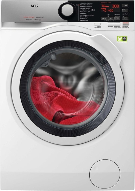 AEG L8FEE84W Wasmachine A+++ -50%