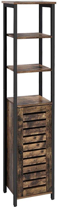 Mira Hoge Kast Smalle Keukenkast Met 3 Planken Woonkamer Slaapkamer Industrieel Vintage