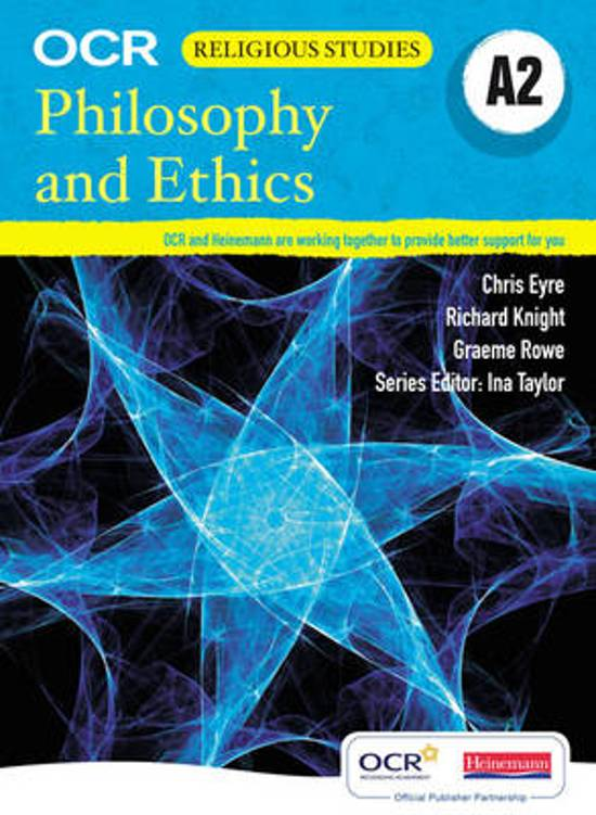 A2 Philosophy and Ethics for OCR Student Book