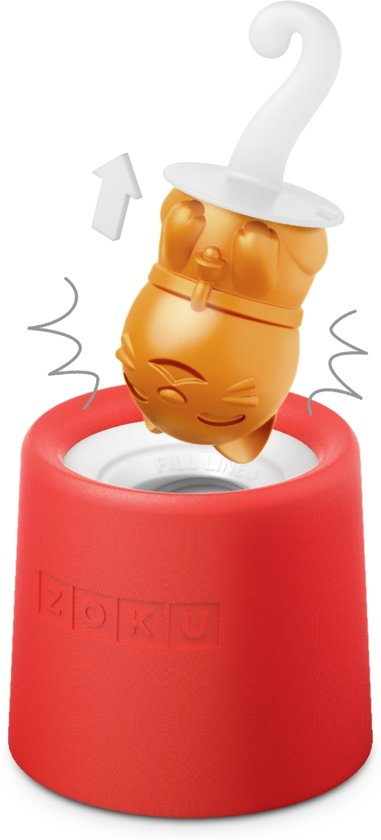 Zoku Slow Pop Ijsmaker - Kitty - 1 stuk - Rood