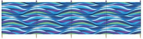 Yello Windscherm 5 Palen 120 X 392 Cm Blauw