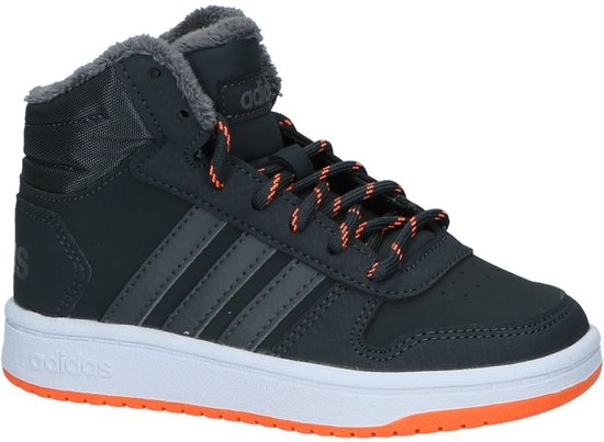 abe909afd24 adidas Hoops Mid High 2.0 l Sneakers Jongens - Carbon S18
