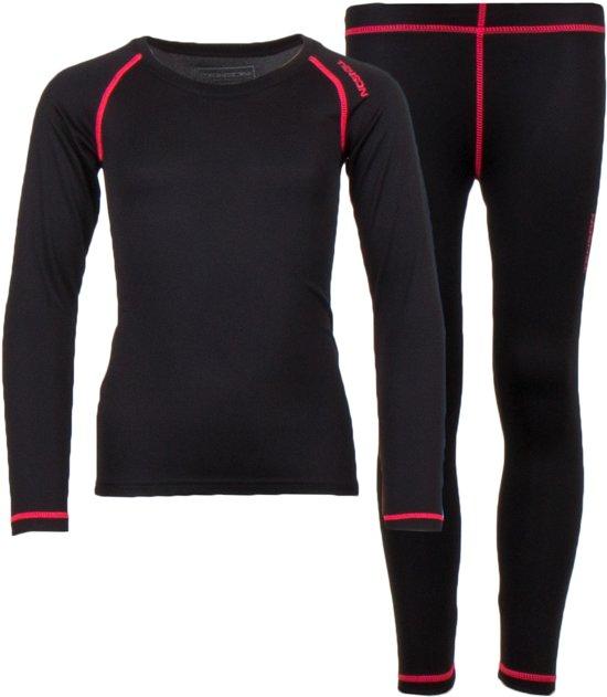 Tenson Thermoset - Maat 146/152  - Meisjes - zwart/roze