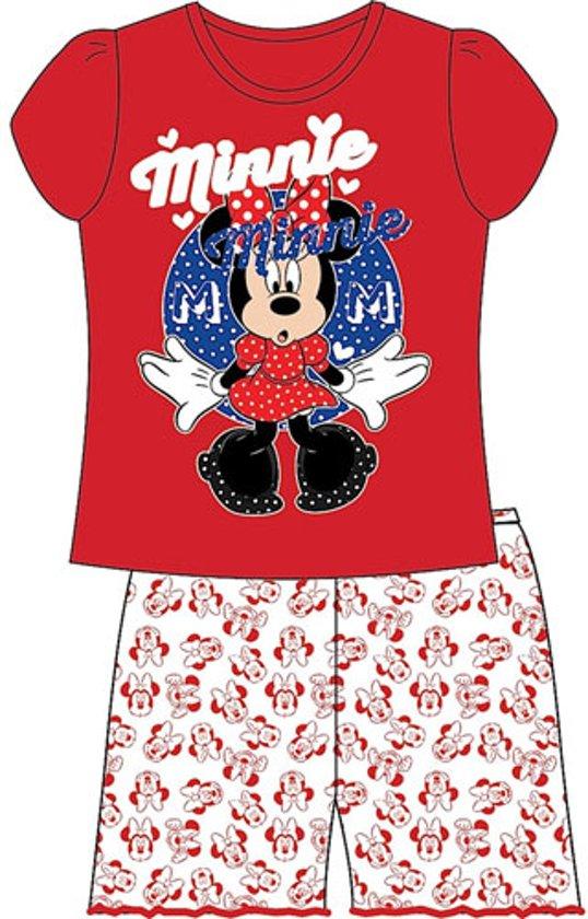 10fca6f1916 Minnie Mouse shortama - maat 110 - rood