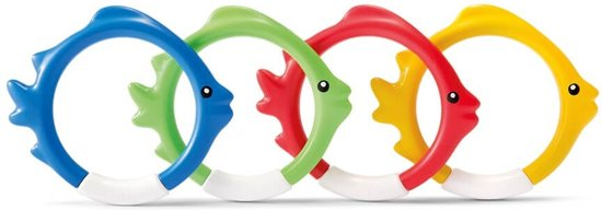 Onderwaterspeelset. Intex fish rings: set van 4