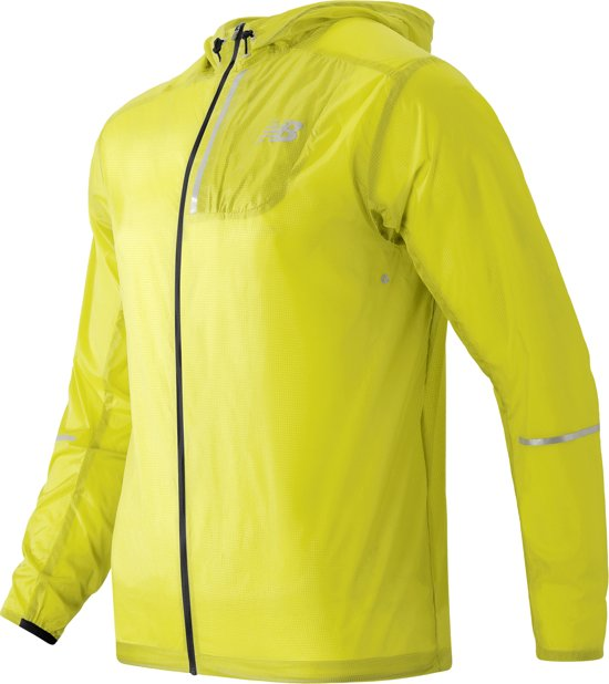 New Balance Lite Packable Sportjas Heren - Yellow - Maat M