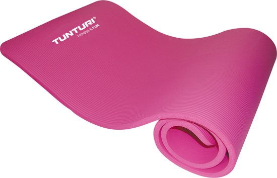 Tunturi Fitnessmat - 180 cm x 60 cm x 1,5 cm - Roze