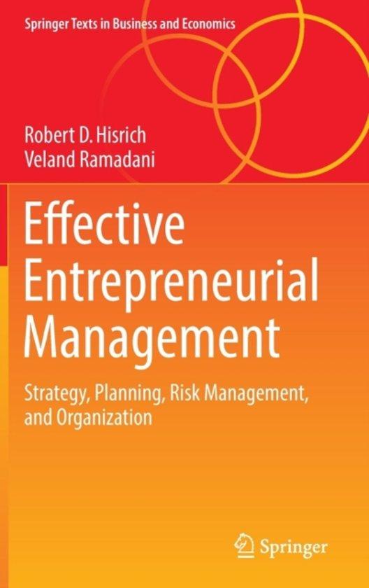 Boek cover Effective Entrepreneurial Management van Robert D. Hisrich (Hardcover)