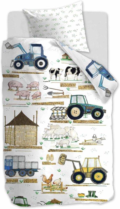 Beddinghouse Kids Farm - Kinderdekbedovertrek - Eenpersoons - 140x200/220 cm - Wit