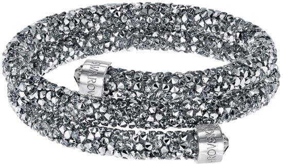 Swarovski armband Crystaldust  Double 5237762 - Antraciet - 55 mm - M