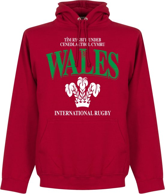 Wales Rugby Hooded Sweater - Rood - M