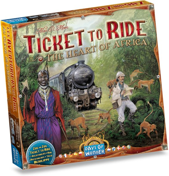 Ticket to Ride The Heart of Africa - Bordspel - Uitbreiding