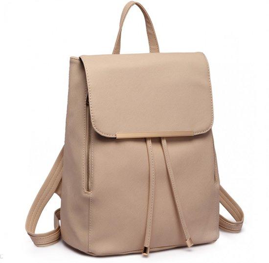 0c757ada1f2 bol.com | Miss lulu Rugzak - Dames Rugtas - Backpack - Beige (E1669 BG)