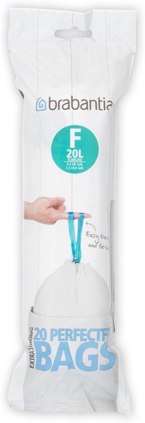 Brabantia Afvalzak Code F - 20 Liter (20 stuks)