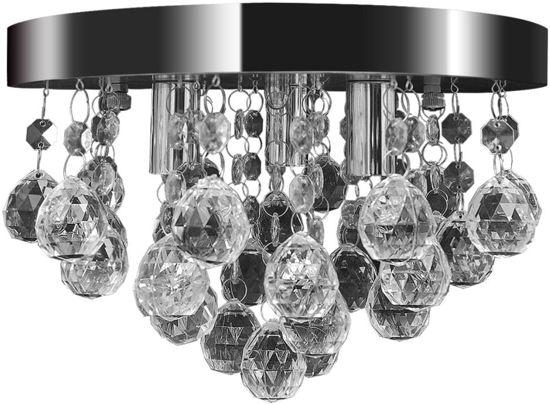 Plafonniere Met Kristallen : Kristallen plafonniere met messing en spiegelend metaal catawiki