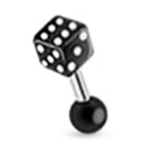 Helix piercing dobbelsteen zwart ©LMPiercings