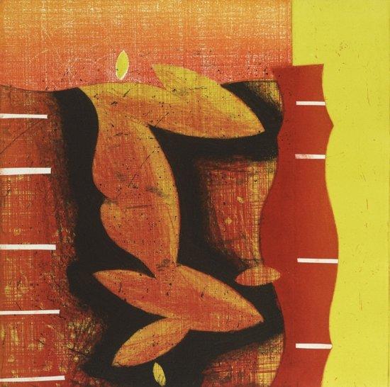 Hans Vredegoor Schilderij Ets 'Internal Flow 4'(54x78)