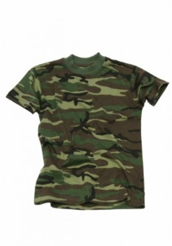 KM Military T-Shirt Woodland Junior 116