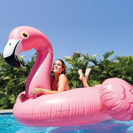 Intex Opblaasbaar Eiland Flamingo Roze 218 Cm
